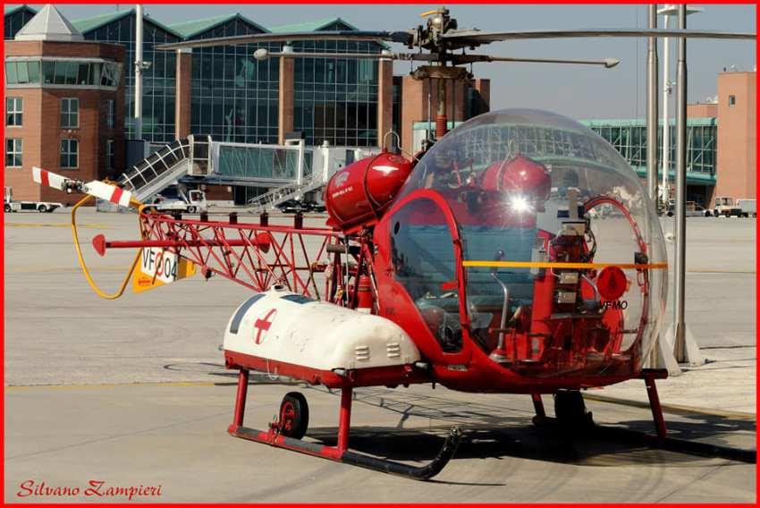 Foto elicottero dei Vigili del Fuoco