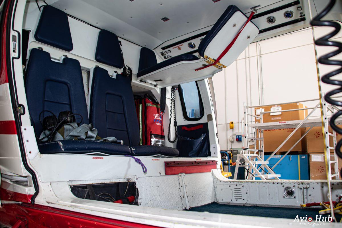 Foto scattate durante la visita di Aviohub al reparto volo dei Vigili del Fuoco di Venezia