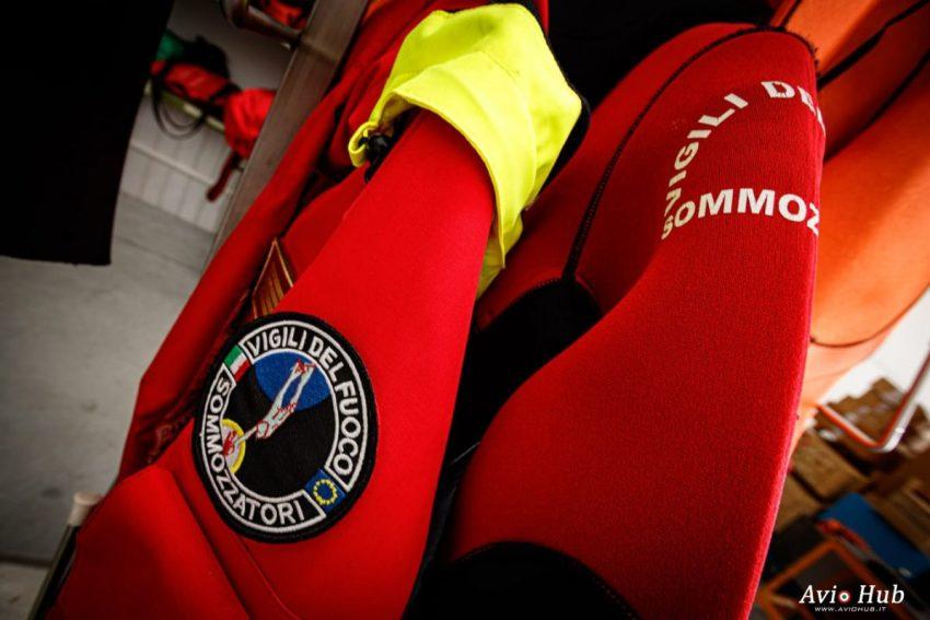 Sommozzatori e SAF soccorso Vigili del fuoco