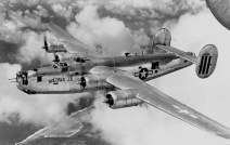 Consolidated B-24M-20-CO (S/N 44-42151) in flight. (U.S. Air Force photo)