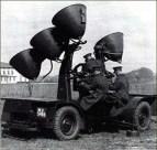 Sound Locator Mk VIII sur remorque- 1939