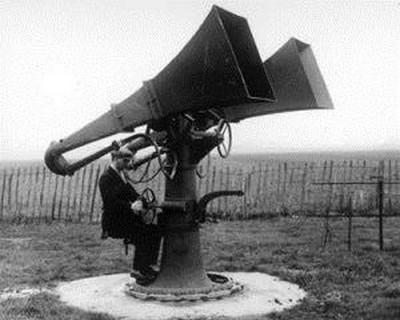 Détecteur acoustique - origine inconnue - année 1920