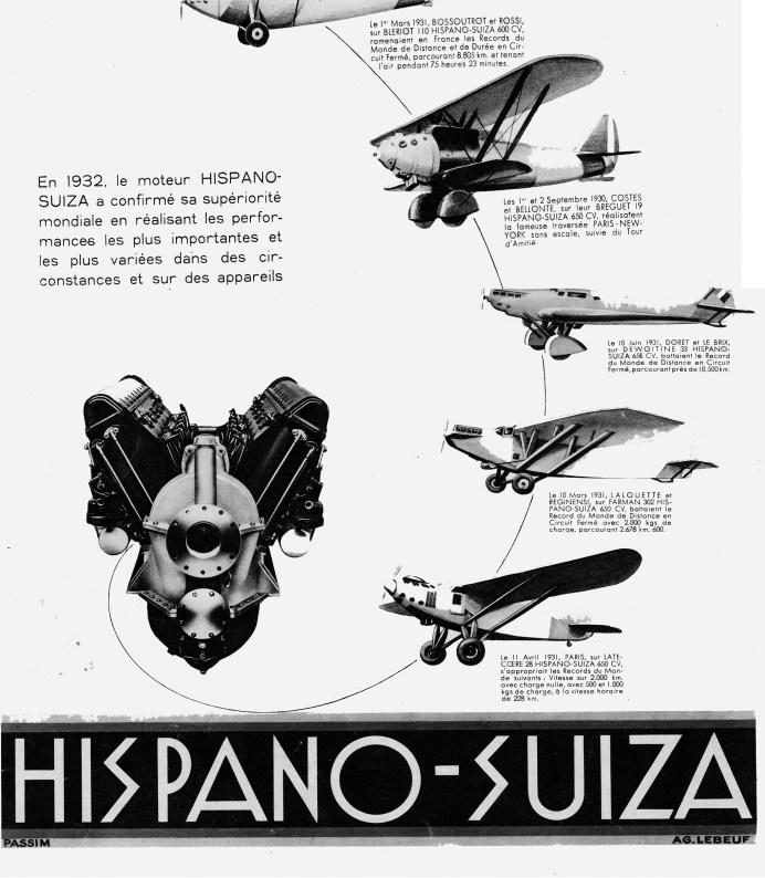 Publicité pour Hispano-Suiza Illustration 1932