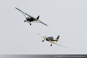 Chipmunk et Piper Cub - Meeting Armée de l'Air - Nancy 2014