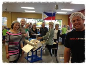 Avionte Employees recently joined the MNRSA board to volunteer at Feed My Starving Children.