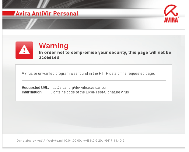Avira detection