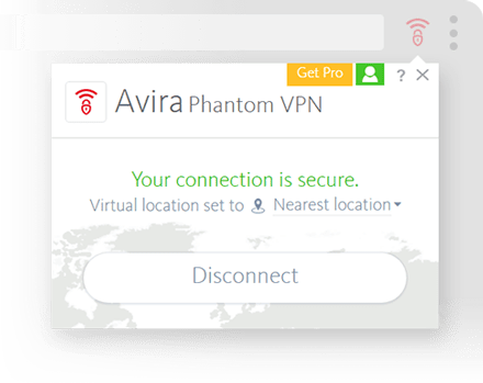 Avira Phantom VPN Browsers Screenshot