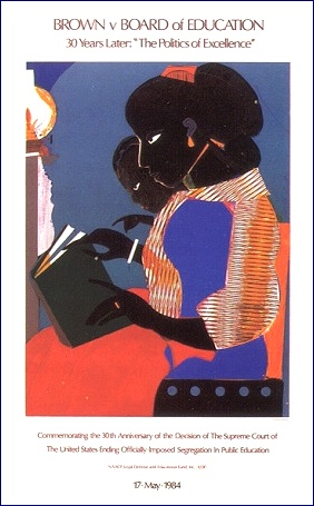 Brown vs Board of Education The Lamp by Romare Bearden