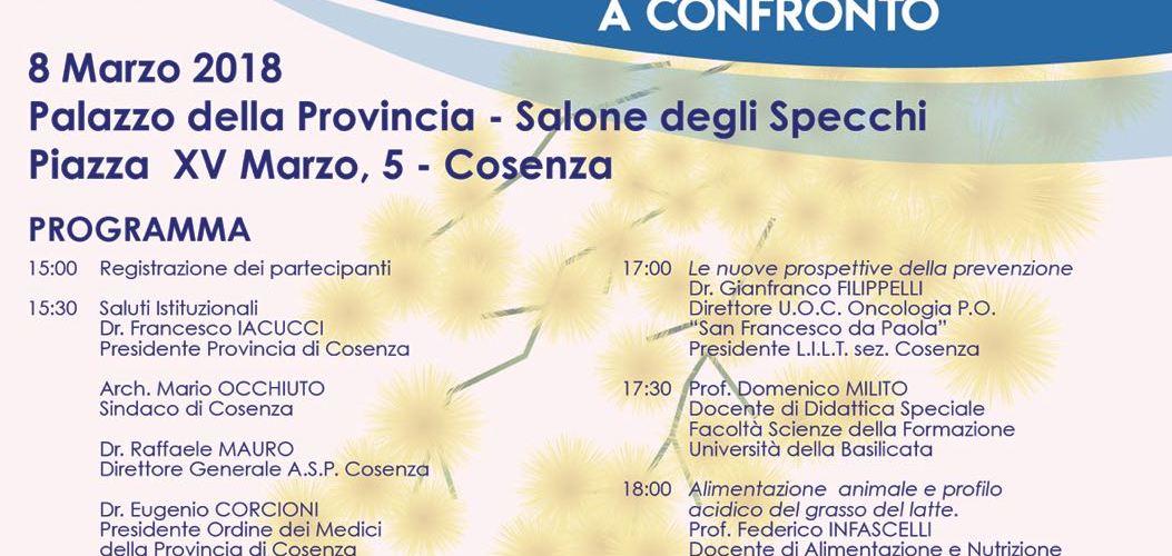 Convegno sulla prevenzione oncologica a Cosenza