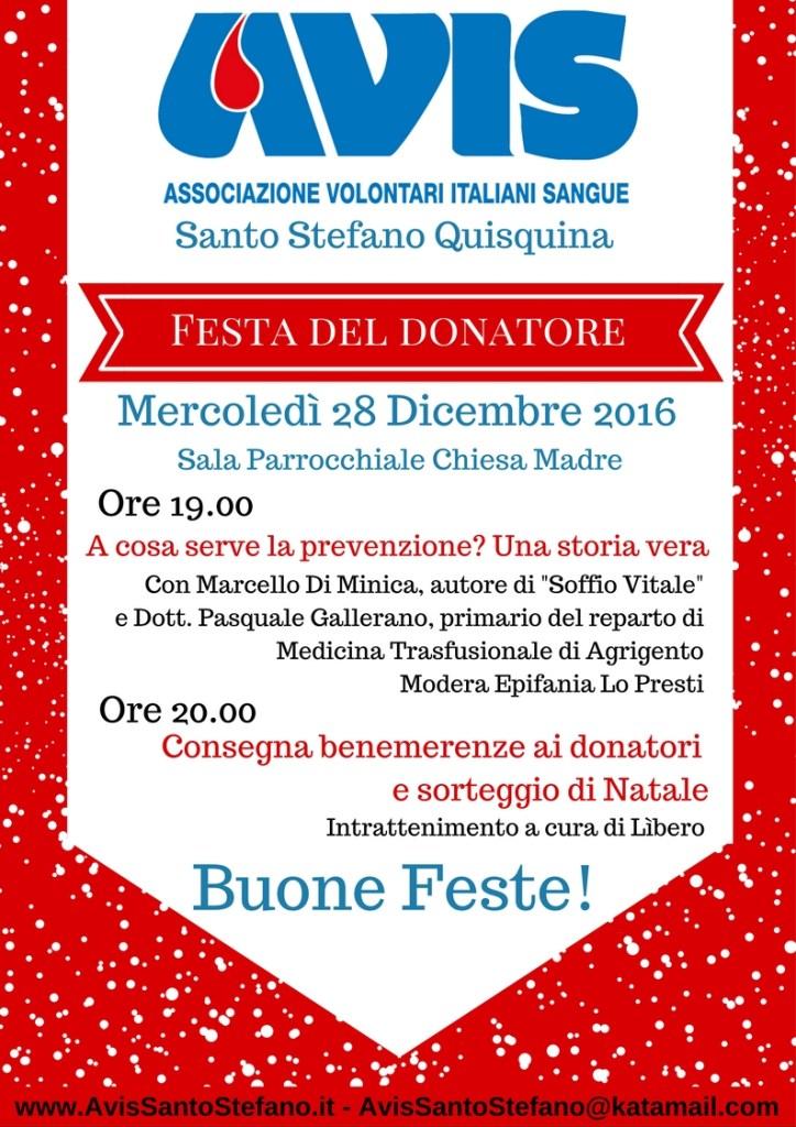 festa del donatore 2016