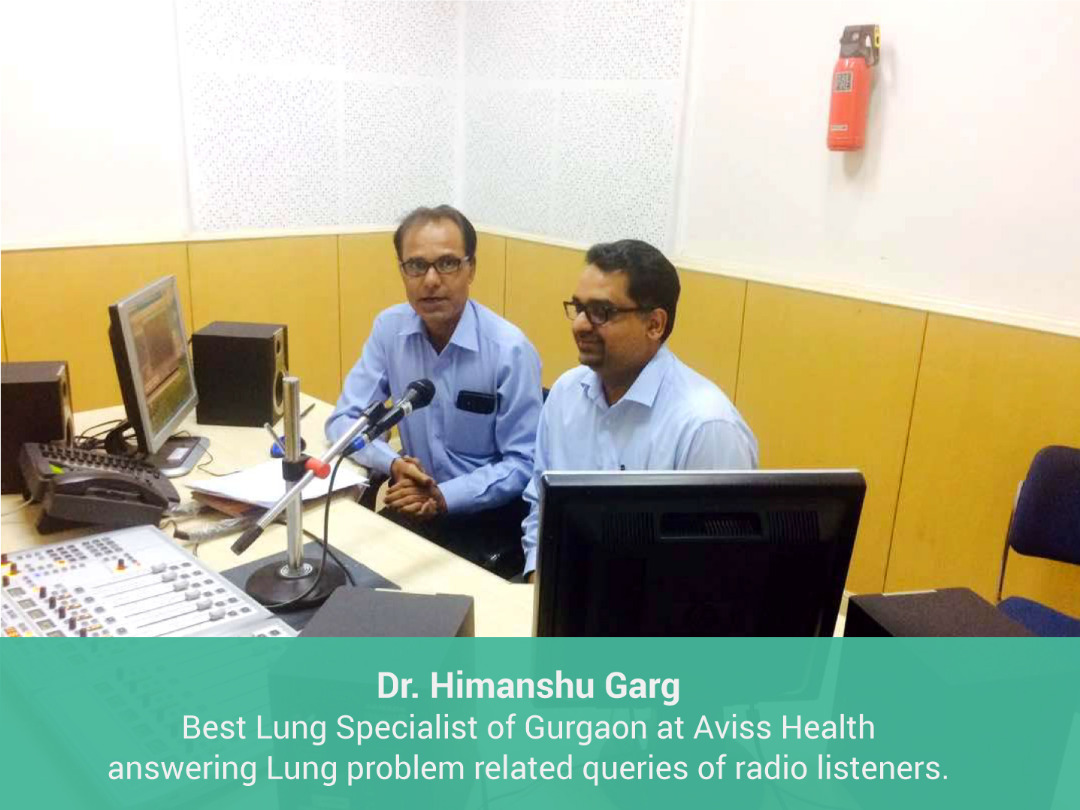 Dr Himanshu Garg,Best Lung Specialist of Gurgaon at Aviss Health answering Lung problem related queries of radio listeners.