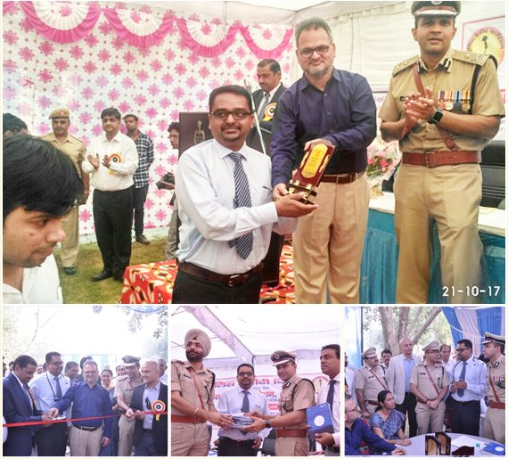 Dr Himamshu Garg awarded by Session Judge and Police Commissioner Gurugram for His Continous sincere efforts to raise awareness against Air pollution and how to save our Lungs