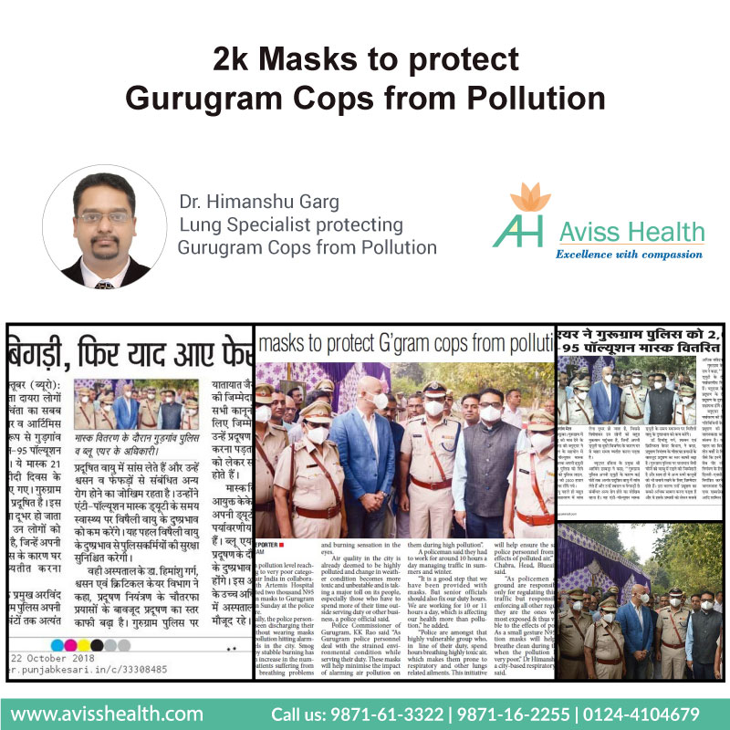 2K masks to protect Gurugram Cops from Pollution