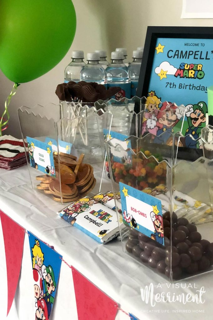 Super Mario lolly buffet and party decorations