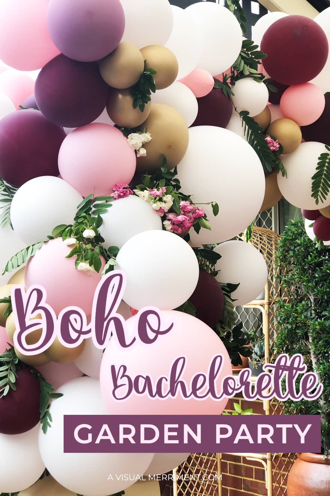 balloon arch text graphic