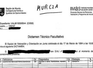 Resultado de búsqueda IMAS INSTITUTO MURCIANO ACCIÓN SOCIAL CODIGO TALIDOMIDA GRUNENTHAL