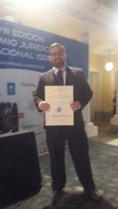 Resultado de búsqueda talidomida grunenthal Francisco Ramón Perona García obtiene el VIII Premio Jurídico Internacional ISDE 2016