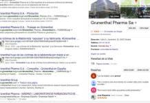 Resultado de búsqueda AVITE contra Grünenthal