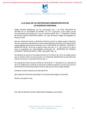 AVITE presenta contencioso administrativo contra el Estado por 390 millones €