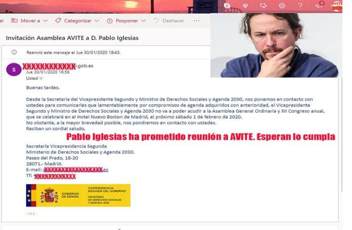Pablo Iglesias el gran protagonista de la Asamblea de AVITE