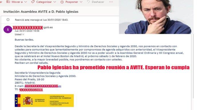 Pablo Iglesias el gran protagonista de la Asamblea de AVITE talidomida grunenthal