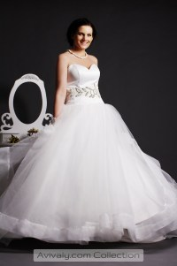 Whity  Free Flowing Wedding Dress