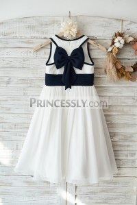 Ivory Chiffon Wedding Flower Girl Dress Junior Bridesmaid ...