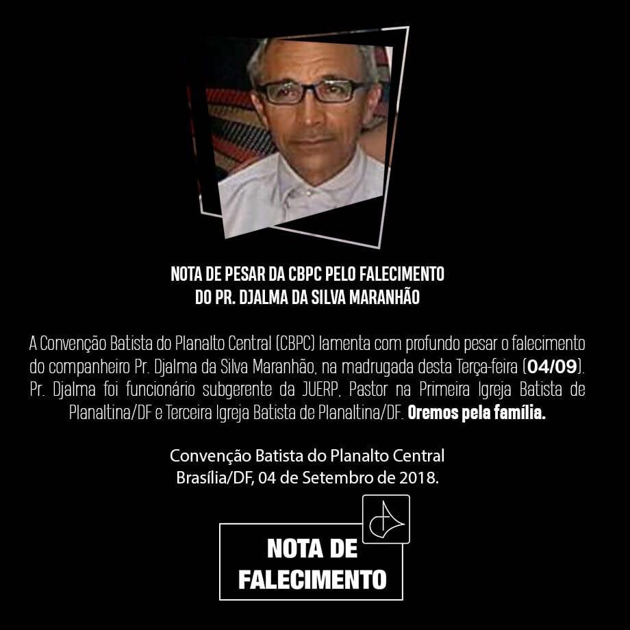 Resultado de imagen para el pastor Djalma da Silva Maranhão