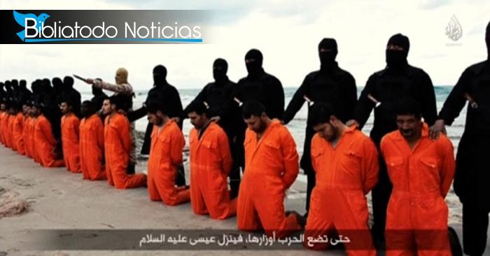 "21 hombres cristianos decapitados han sido nombrados ""Mártires"" de la iglesia copta en Egipto"