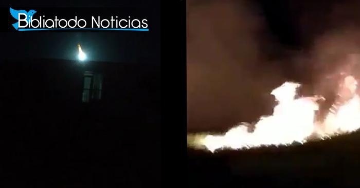 ¡EXTRAÑO FENÓMENO! Venezuela presencia la caída de un meteorito durante el fin de semana