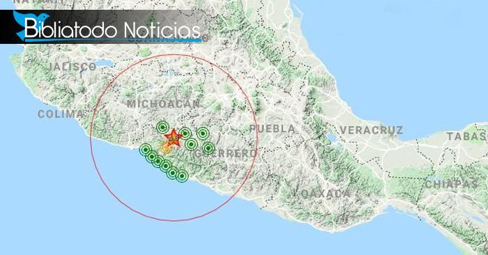 Se registra sismo de 4.8 en el estado de Guerrero con repercusión en la capital de México