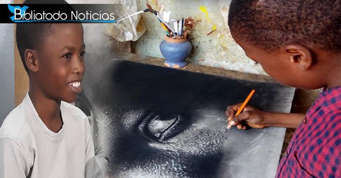 Siempre agradecido con Dios: Niño prodigio de la pintura le dio una nueva vida a su familia a través del arte