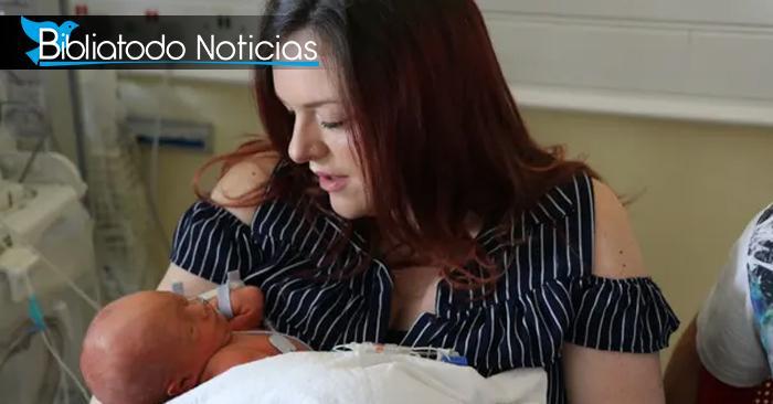 Evitando su aborto, bebé es operado de grave malformación desde el vientre de su madre