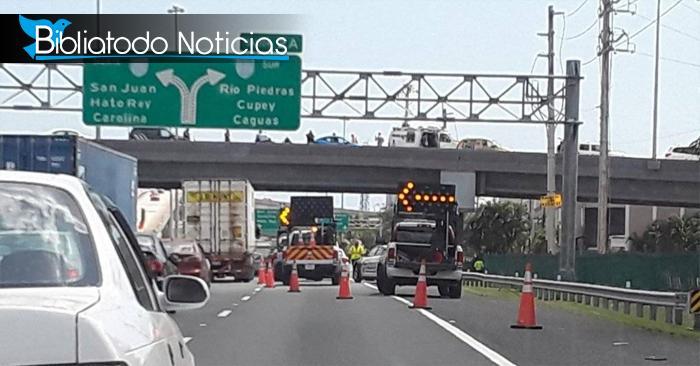 Joven detiene el tráfico para lanzarse de un puente (Vídeo)