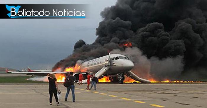 Terrible siniestro acaba con las vidas de pasajeros de avión en Moscú