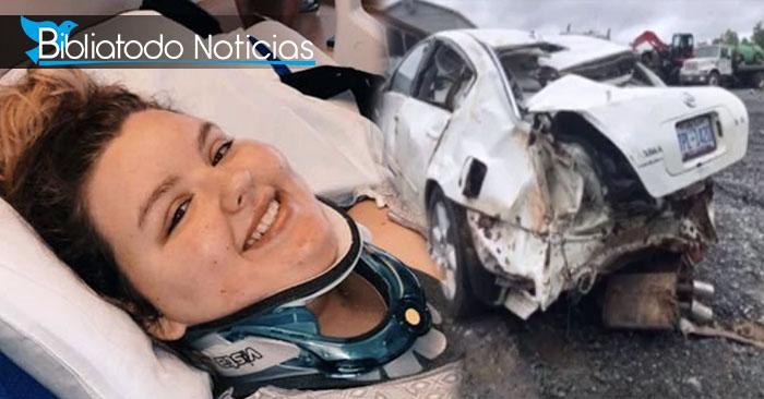 Con Biblia en mano, joven sobrevive a trágico accidente de auto