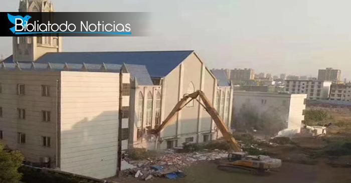 Funcionarios del gobierno chino derriban una iglesia ubicada en la provincia de Anhui