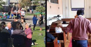 Cristianos Chilenos orando por su nación