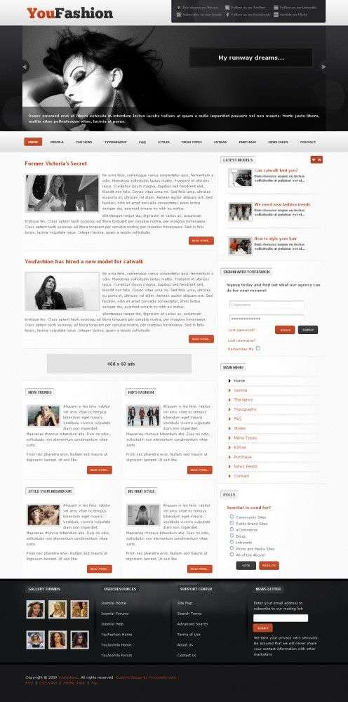 youfashion youjoomla templates 496x1000 - YouFashion Joomla Template