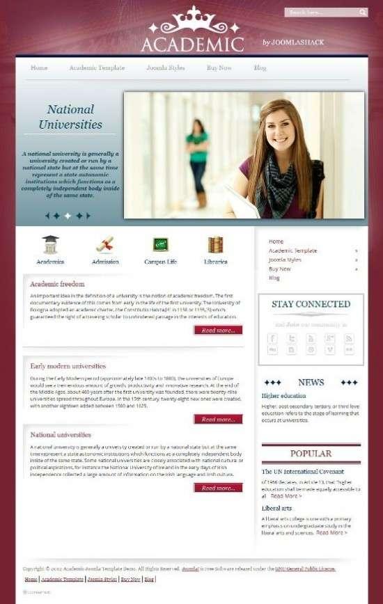 academic joomlashack avjthemescom 01 550x868 - Joomlashack Academic Joomla Template