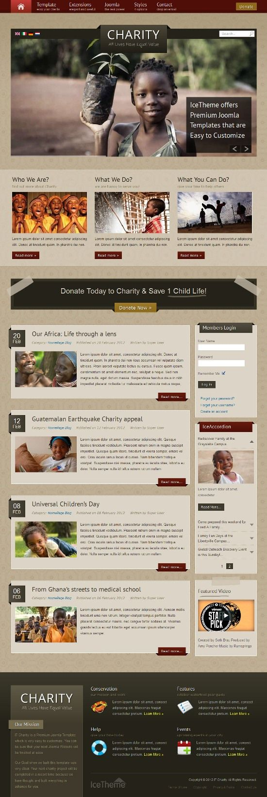 it charity icetheme avjthemescom 01 - IT Charity Joomla Template