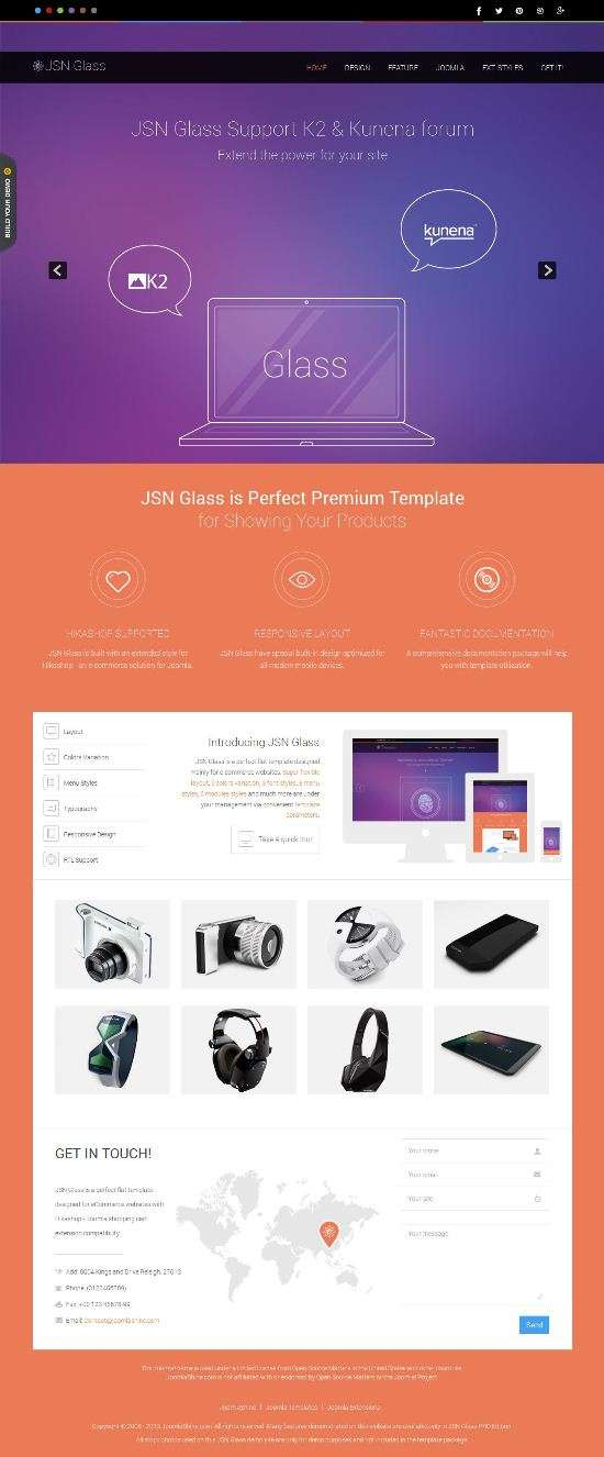 jsn glass joomlashine avjthemescom 01 - JSN Glass Joomla Template
