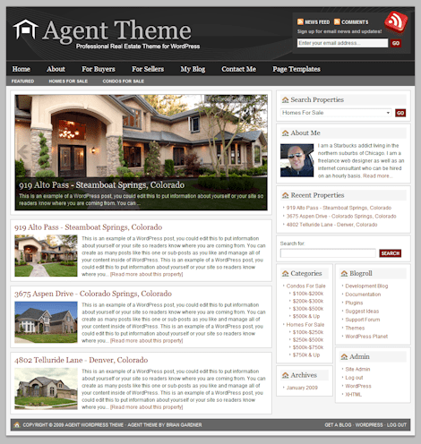 agent 1a - Revolution Agent 1.0 WordPress Theme