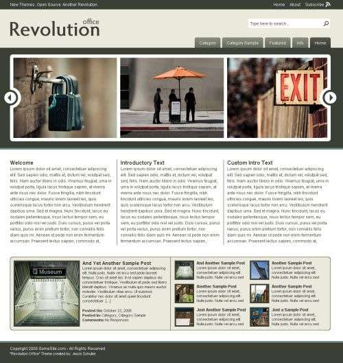 revolution office - Revolution Office : Wordpress Theme