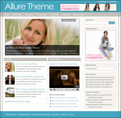 allure studiopress avjthemescom - Allure 2.0 Wordpress Theme