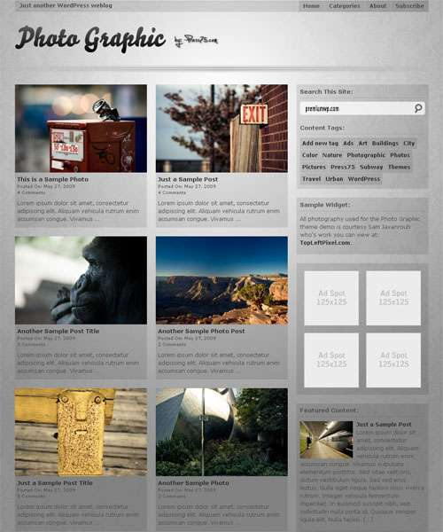 photo graphic wordpress theme - Photo Graphic Wordpress Theme