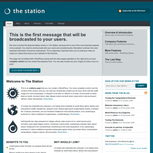 the station avjthemescom woothemes - The Station