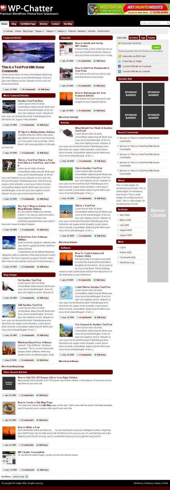 wp chatter solostream - WP-Chatter Wordpress Theme
