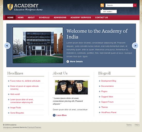academy avjthemescom premiumthemes - Academy Wordpress Theme