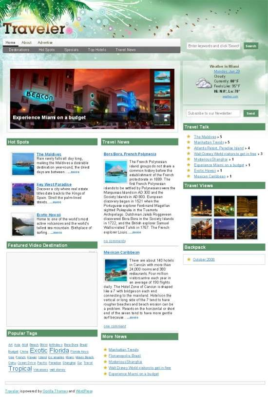 traveler gorilla themes 550x814 - Traveler Magazine Wordpress Theme